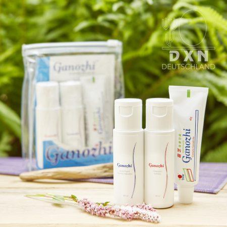 DXN Ganozhi Shampoo 50 ml, Ganozhi Duschgel 50 ml und Ganozhi Zahnpasta 40 g