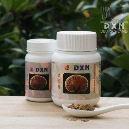 DXN Reishi Mushroom Pulver und Packung