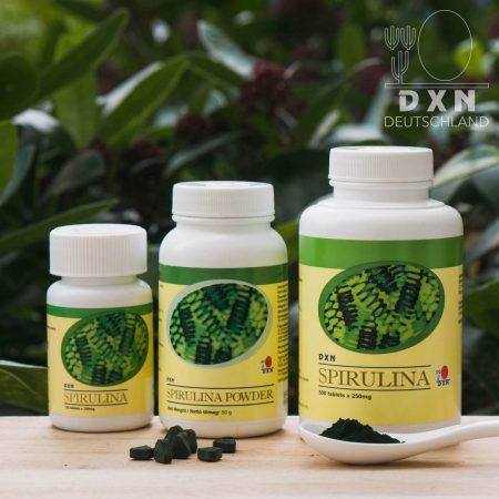 DXN Spirulina Tabletten und Pulver